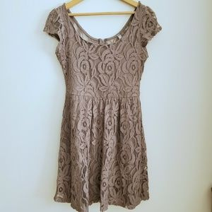 Bella D Floral Lace Dress